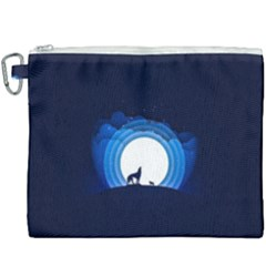 Month Full Moon Wolf Night Canvas Cosmetic Bag (xxxl)