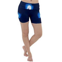 Month Full Moon Wolf Night Lightweight Velour Yoga Shorts