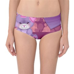 Illustration Love Celebration Mid Waist Bikini Bottoms
