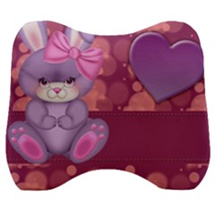 Illustration Love Celebration Velour Head Support Cushion by Nexatart