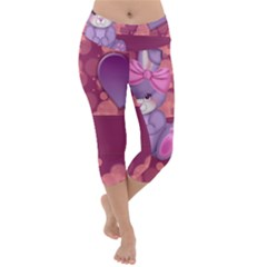 Illustration Love Celebration Lightweight Velour Capri Yoga Leggings