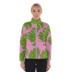 Leaves Tropical Plant Green Garden Winter Jacket
