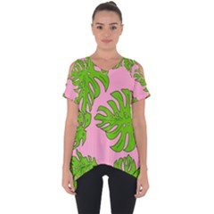 Leaves Tropical Plant Green Garden Cut Out Side Drop Tee