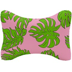 Leaves Tropical Plant Green Garden Seat Head Rest Cushion by Nexatart