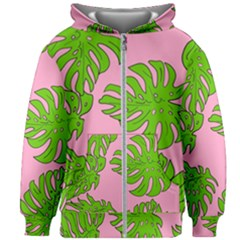 Leaves Tropical Plant Green Garden Kids Zipper Hoodie Without Drawstring
