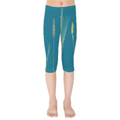 Grass Grasses Blade Of Grass Kids  Capri Leggings  by Nexatart