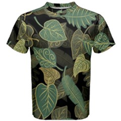 Autumn Fallen Leaves Dried Leaves Men s Cotton Tee