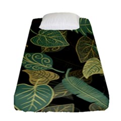 Autumn Fallen Leaves Dried Leaves Fitted Sheet (single Size) by Nexatart