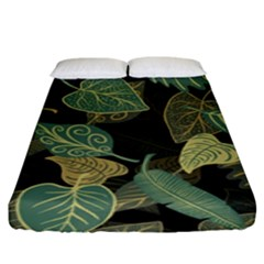 Autumn Fallen Leaves Dried Leaves Fitted Sheet (king Size) by Nexatart