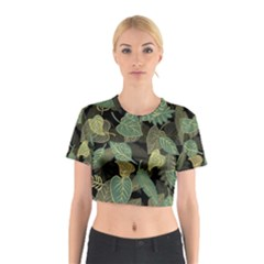 Autumn Fallen Leaves Dried Leaves Cotton Crop Top