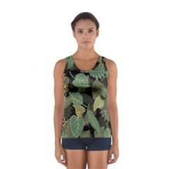 Autumn Fallen Leaves Dried Leaves Sport Tank Top
