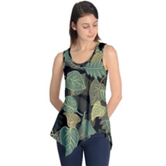 Autumn Fallen Leaves Dried Leaves Sleeveless Tunic