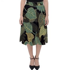Autumn Fallen Leaves Dried Leaves Classic Midi Skirt