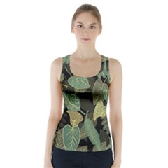 Autumn Fallen Leaves Dried Leaves Racer Back Sports Top