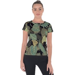 Autumn Fallen Leaves Dried Leaves Short Sleeve Sports Top