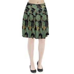 Autumn Fallen Leaves Dried Leaves Pleated Skirt