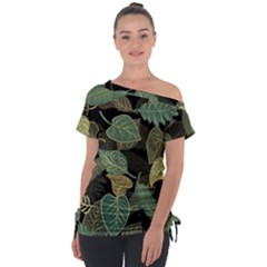Autumn Fallen Leaves Dried Leaves Tie Up Tee
