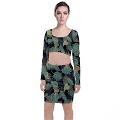 Autumn Fallen Leaves Dried Leaves Top And Skirt Sets