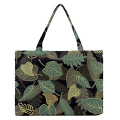 Autumn Fallen Leaves Dried Leaves Zipper Medium Tote Bag by Nexatart