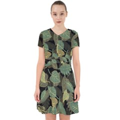 Autumn Fallen Leaves Dried Leaves Adorable In Chiffon Dress