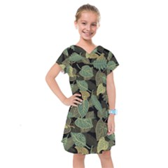 Autumn Fallen Leaves Dried Leaves Kids  Drop Waist Dress