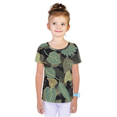 Autumn Fallen Leaves Dried Leaves Kids  One Piece Tee