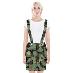 Autumn Fallen Leaves Dried Leaves Braces Suspender Skirt