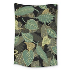 Autumn Fallen Leaves Dried Leaves Large Tapestry