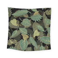 Autumn Fallen Leaves Dried Leaves Square Tapestry (small)