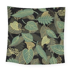 Autumn Fallen Leaves Dried Leaves Square Tapestry (large)