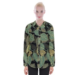 Autumn Fallen Leaves Dried Leaves Womens Long Sleeve Shirt
