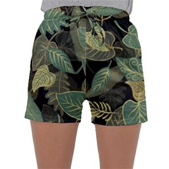 Autumn Fallen Leaves Dried Leaves Sleepwear Shorts