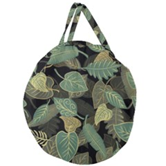 Autumn Fallen Leaves Dried Leaves Giant Round Zipper Tote