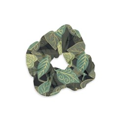 Autumn Fallen Leaves Dried Leaves Velvet Scrunchie