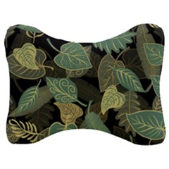 Autumn Fallen Leaves Dried Leaves Velour Seat Head Rest Cushion