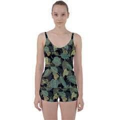 Autumn Fallen Leaves Dried Leaves Tie Front Two Piece Tankini
