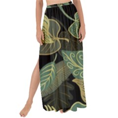 Autumn Fallen Leaves Dried Leaves Maxi Chiffon Tie Up Sarong