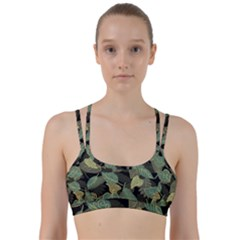 Autumn Fallen Leaves Dried Leaves Line Them Up Sports Bra