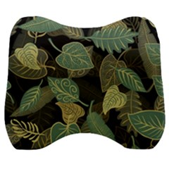 Autumn Fallen Leaves Dried Leaves Velour Head Support Cushion