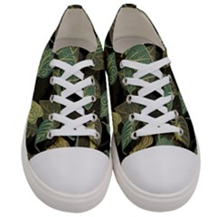 Autumn Fallen Leaves Dried Leaves Women s Low Top Canvas Sneakers