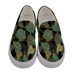 Autumn Fallen Leaves Dried Leaves Women s Canvas Slip Ons