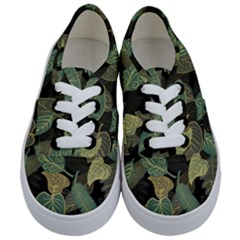 Autumn Fallen Leaves Dried Leaves Kids  Classic Low Top Sneakers