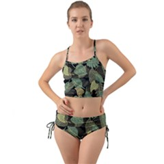Autumn Fallen Leaves Dried Leaves Mini Tank Bikini Set