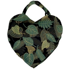 Autumn Fallen Leaves Dried Leaves Giant Heart Shaped Tote