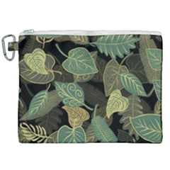 Autumn Fallen Leaves Dried Leaves Canvas Cosmetic Bag (xxl)