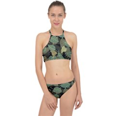 Autumn Fallen Leaves Dried Leaves Racer Front Bikini Set