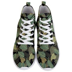 Autumn Fallen Leaves Dried Leaves Men s Lightweight High Top Sneakers