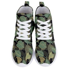 Autumn Fallen Leaves Dried Leaves Women s Lightweight High Top Sneakers