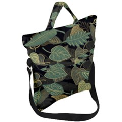 Autumn Fallen Leaves Dried Leaves Fold Over Handle Tote Bag
