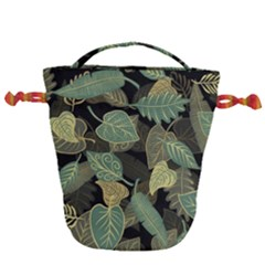 Autumn Fallen Leaves Dried Leaves Drawstring Bucket Bag
